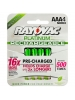 Rayovac PL724-4 GENA - Rechargeable NiMH Battery - AAA Size - Platinum Series - 4 Pack - Sold by Pack Only